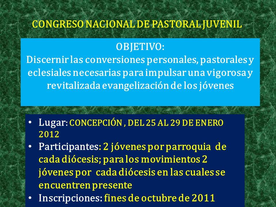 CONGRESO NACIONAL DE PASTORAL JUVENIL