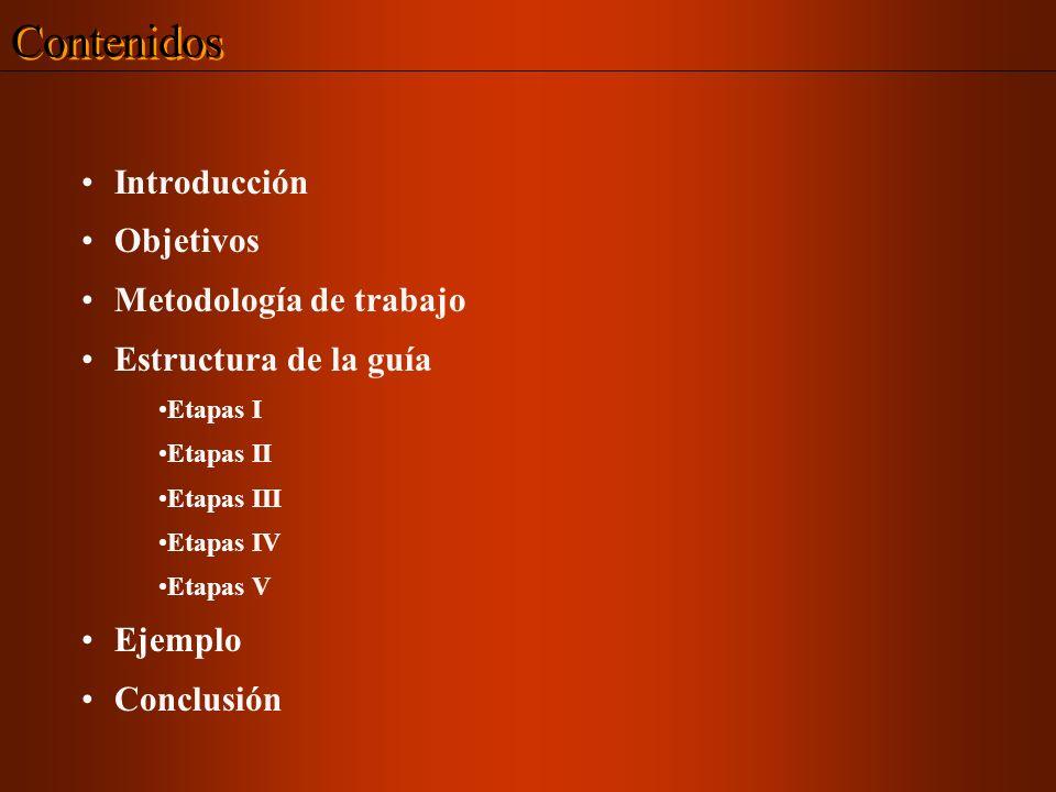 Contenidos Introducción Objetivos Metodología de trabajo