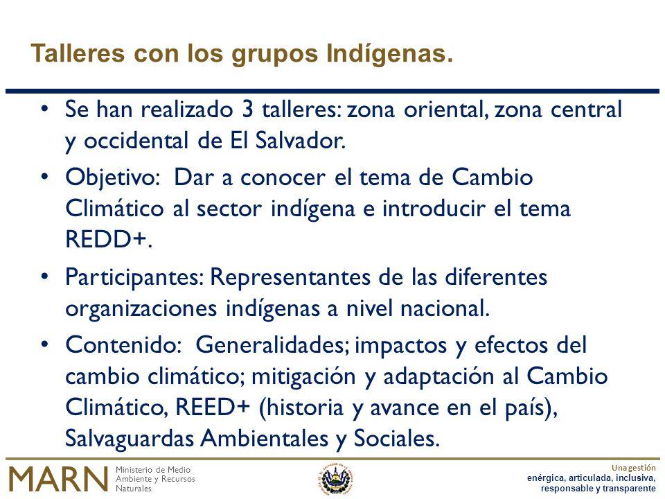 Talleres con los grupos Indígenas.