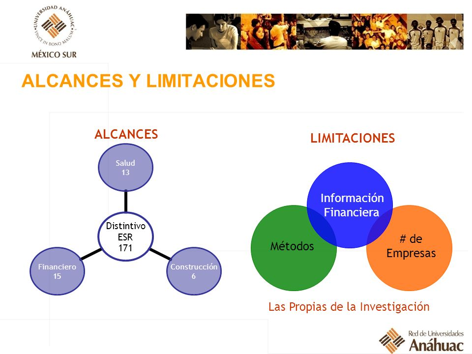 ALCANCES Y LIMITACIONES