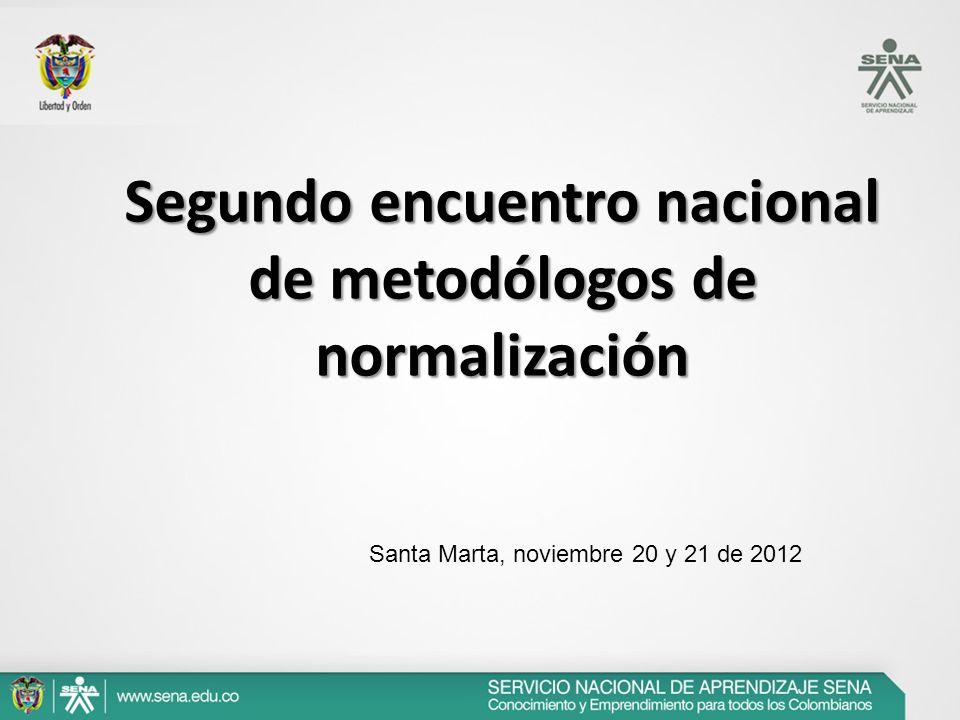 Segundo encuentro nacional de metodólogos de normalización