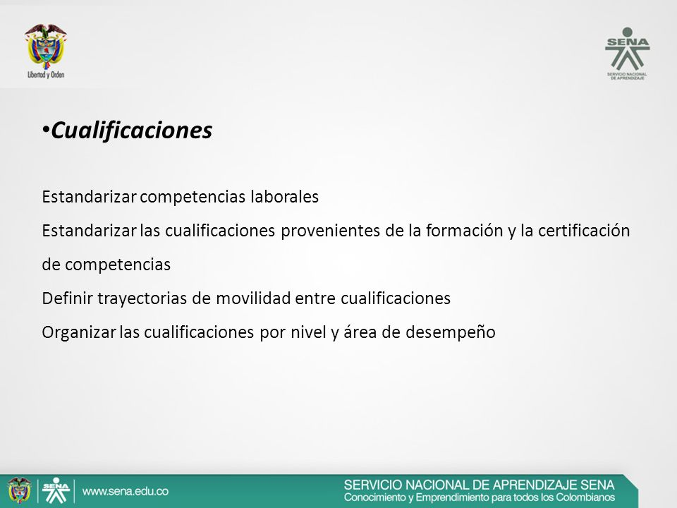 Cualificaciones Estandarizar competencias laborales