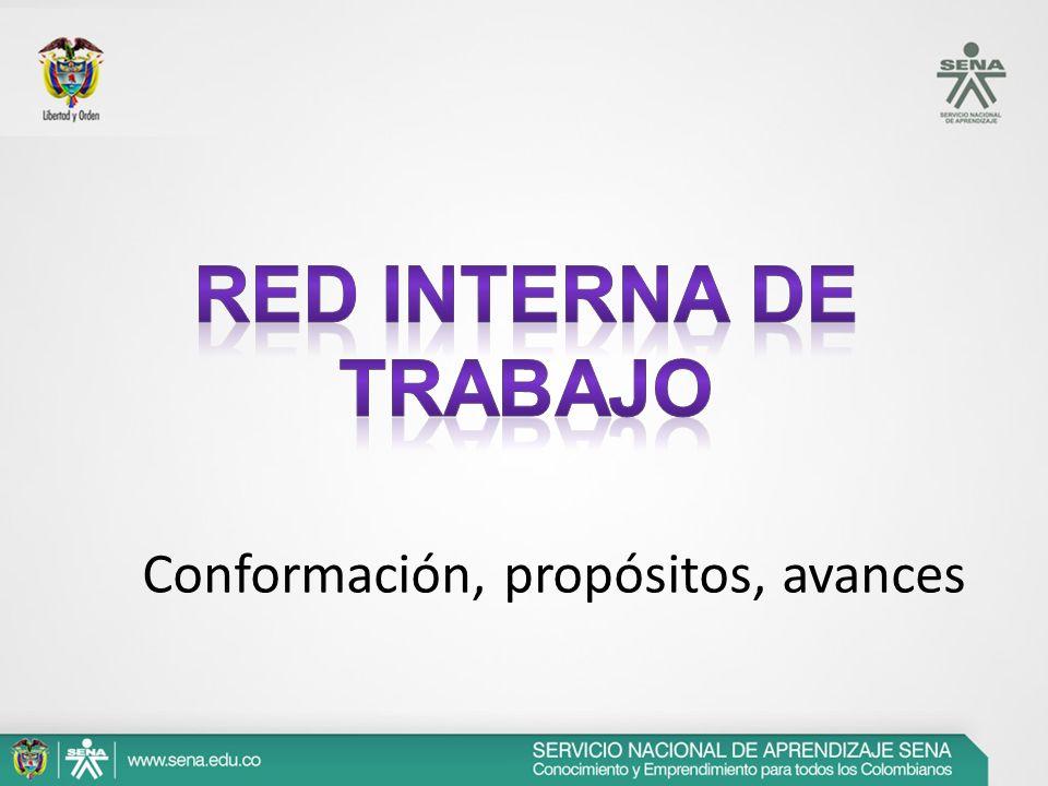 Red Interna de Trabajo Conformación, propósitos, avances