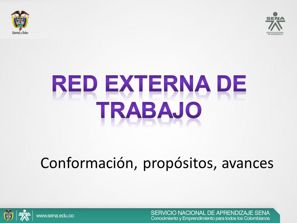 Red EXterna de Trabajo Conformación, propósitos, avances