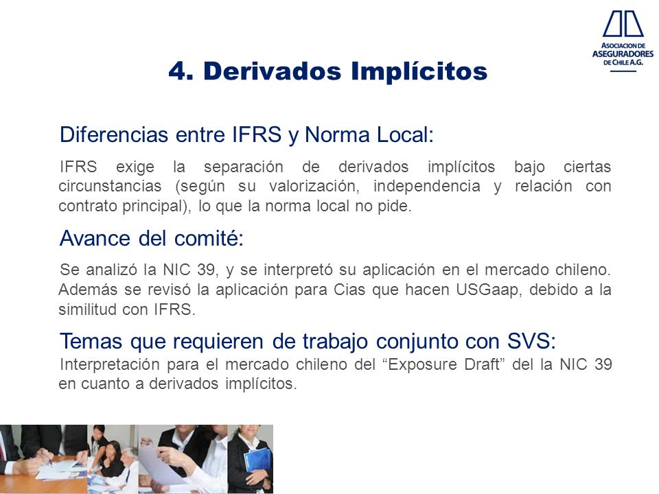 4. Derivados Implícitos Diferencias entre IFRS y Norma Local: