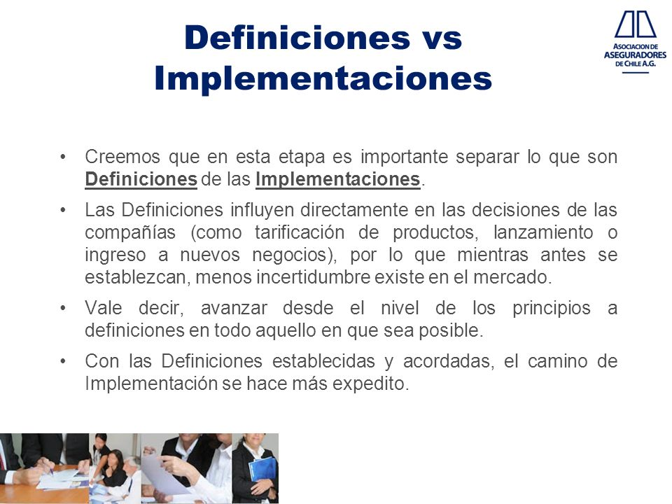 Definiciones vs Implementaciones