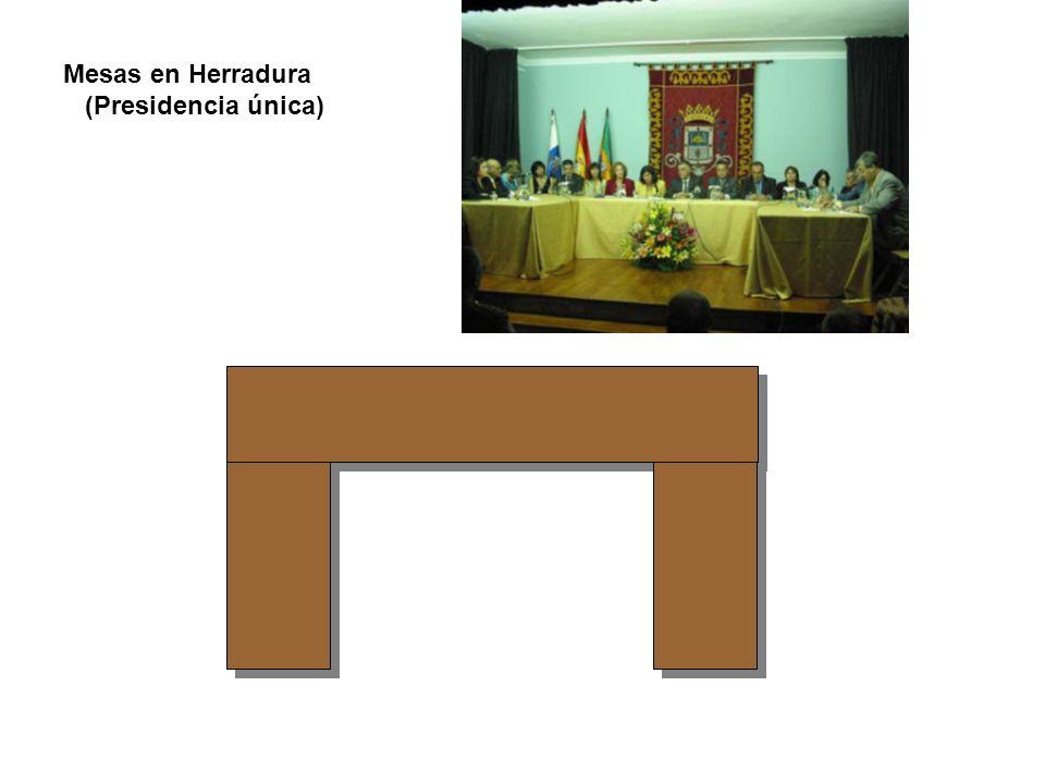 Mesas en Herradura (Presidencia única)