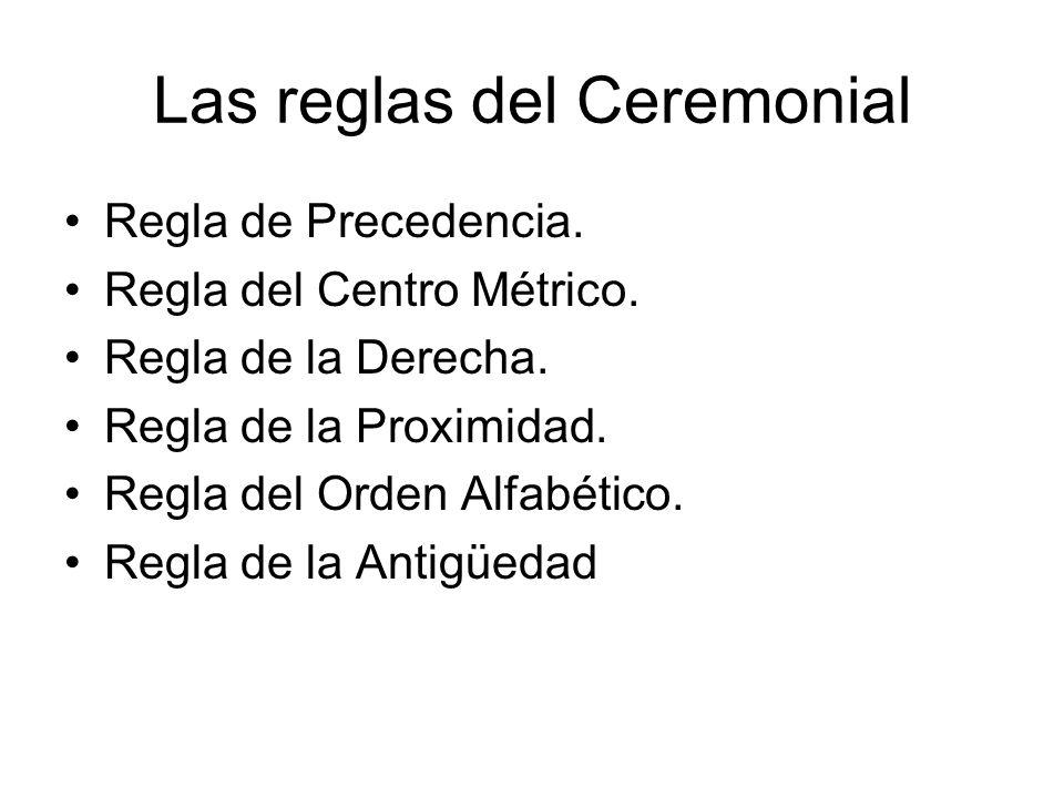 Las reglas del Ceremonial