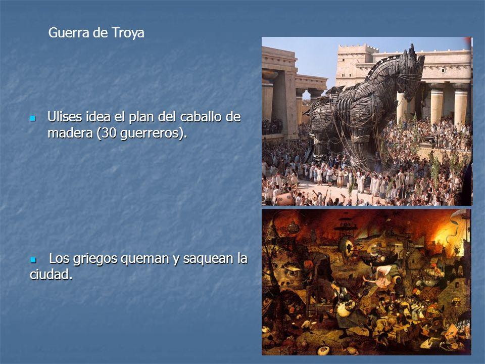 Guerra de Troya Ulises idea el plan del caballo de madera (30 guerreros).
