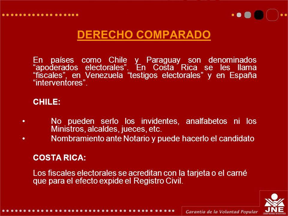 DERECHO COMPARADO CHILE:
