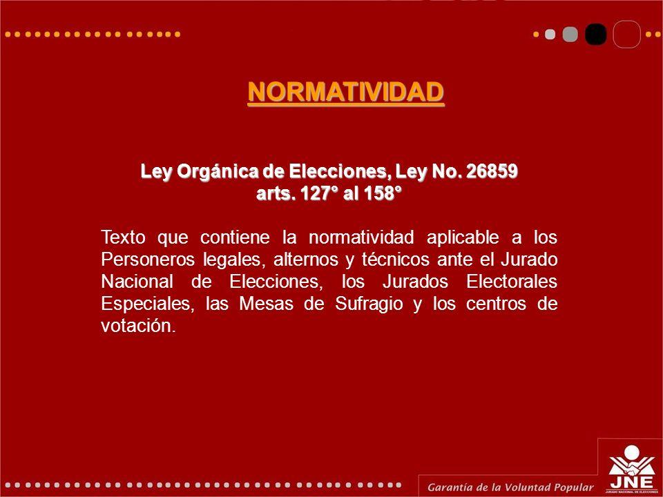 Ley Orgánica de Elecciones, Ley No. 26859