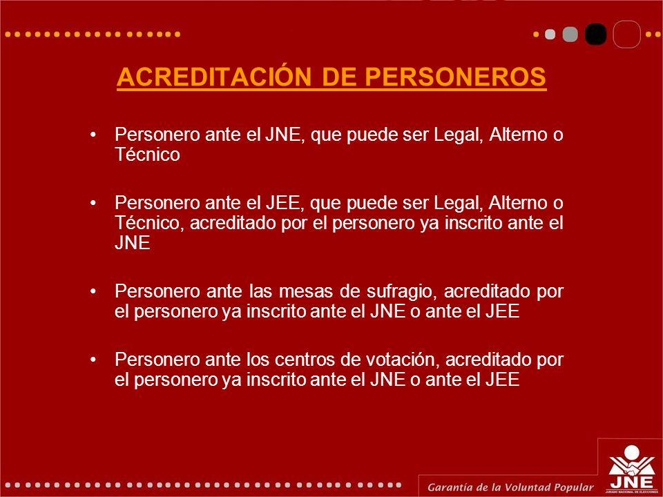 ACREDITACIÓN DE PERSONEROS