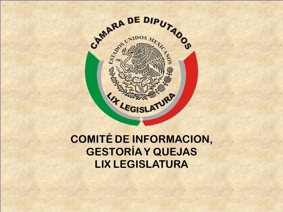 COMITÉ DE INFORMACION, GESTORÍA Y QUEJAS LIX LEGISLATURA