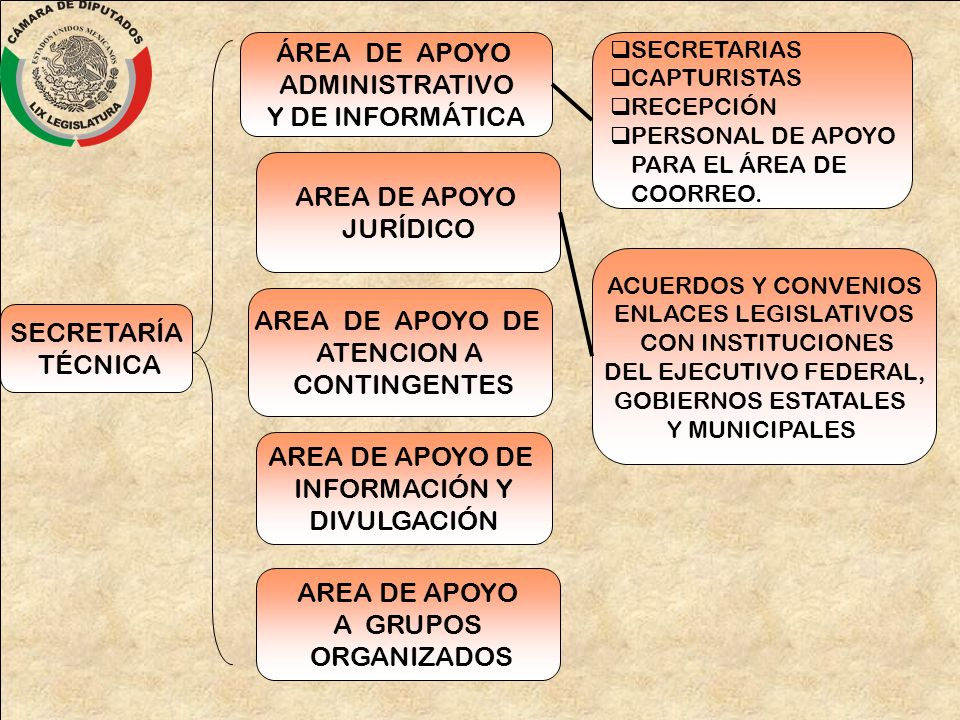 ÁREA DE APOYO ADMINISTRATIVO Y DE INFORMÁTICA AREA DE APOYO JURÍDICO