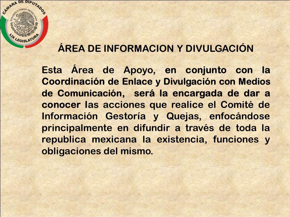ÁREA DE INFORMACION Y DIVULGACIÓN