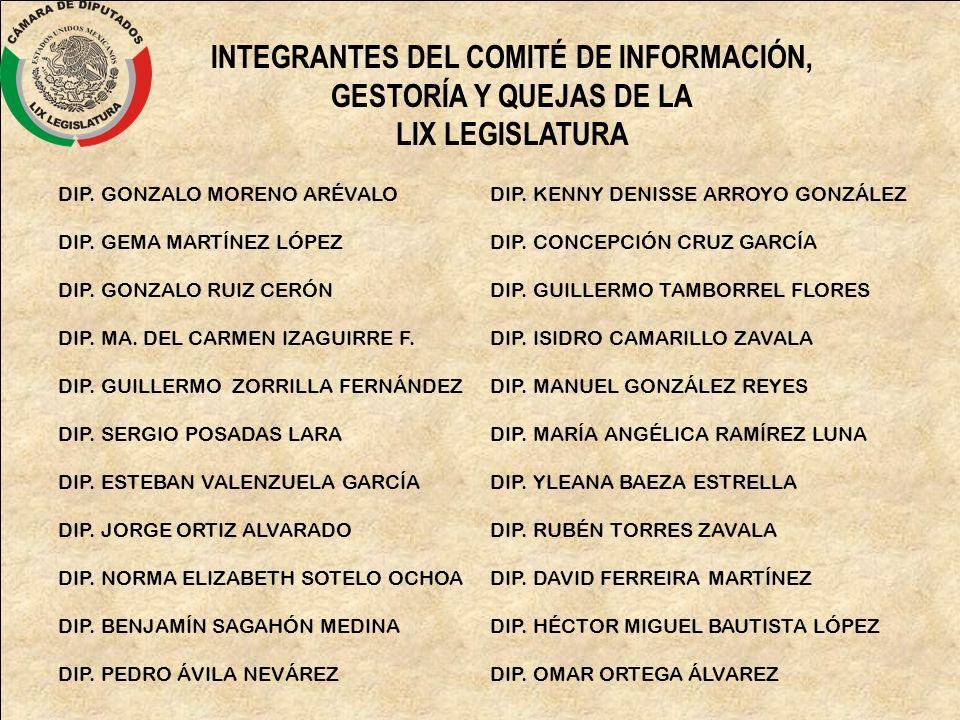 INTEGRANTES DEL COMITÉ DE INFORMACIÓN,