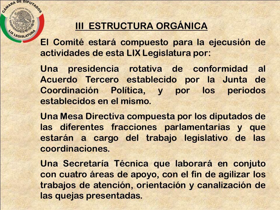 III ESTRUCTURA ORGÁNICA