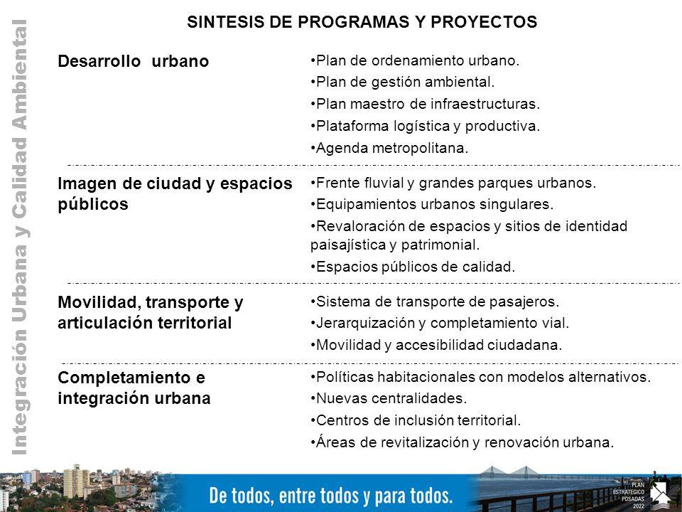 SINTESIS DE PROGRAMAS Y PROYECTOS