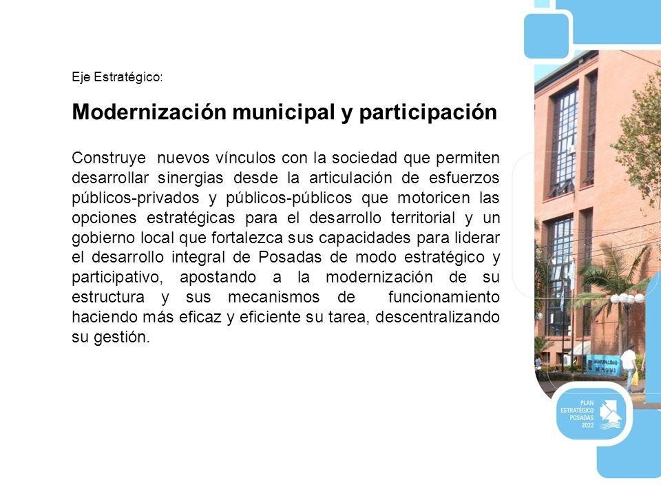 Modernización municipal y participación