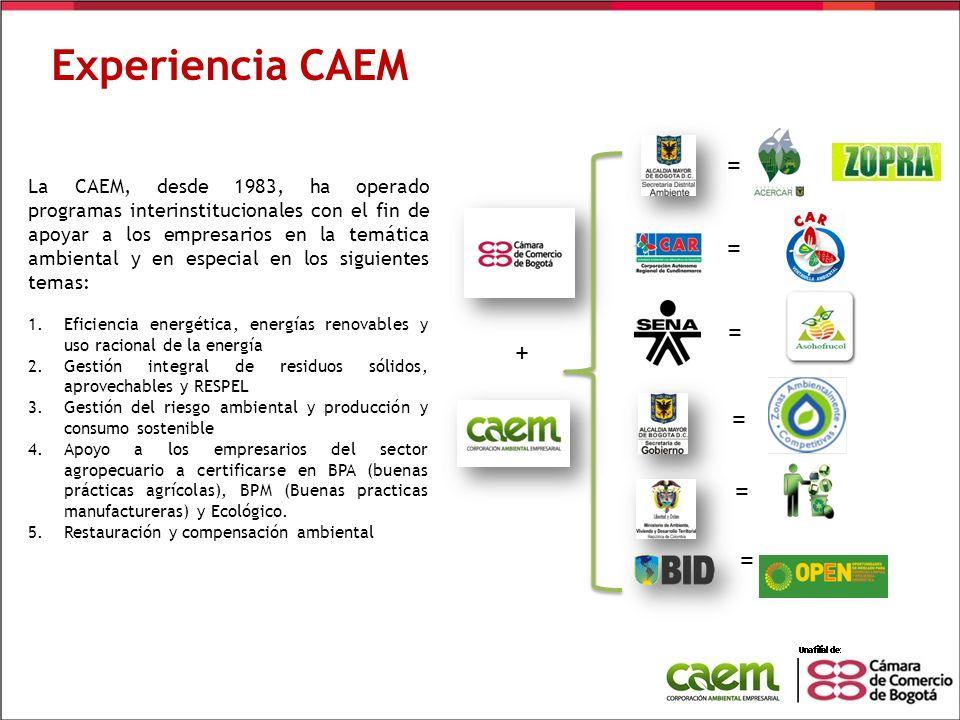 Experiencia CAEM + =