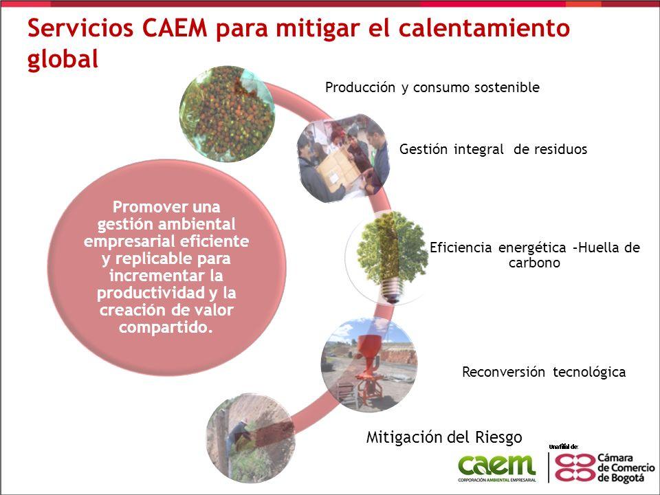 Servicios CAEM para mitigar el calentamiento global