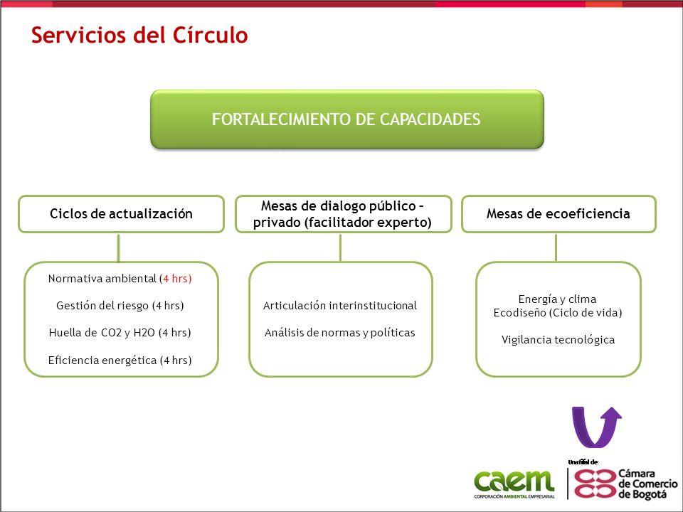 Servicios del Círculo FORTALECIMIENTO DE CAPACIDADES