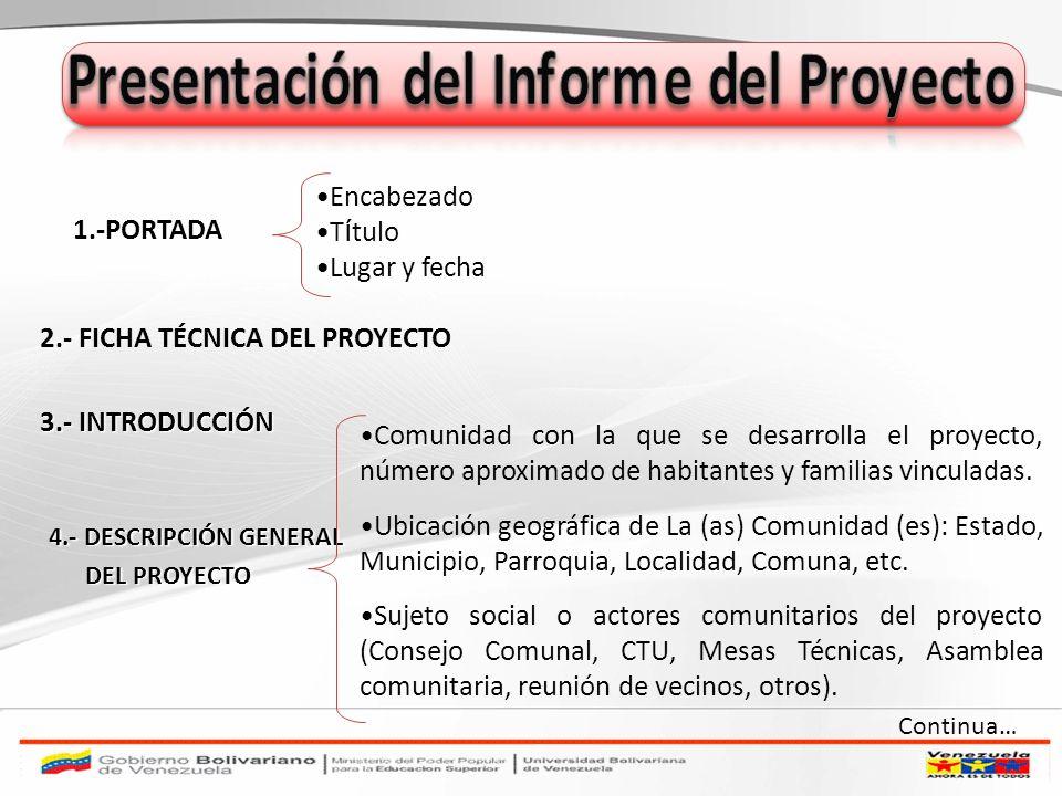 Presentación del Informe del Proyecto