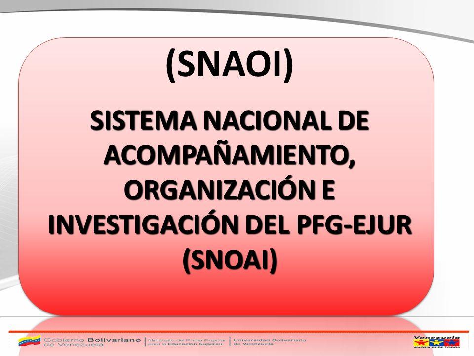 (SNAOI) SISTEMA NACIONAL DE ACOMPAÑAMIENTO, ORGANIZACIÓN E INVESTIGACIÓN DEL PFG-EJUR (SNOAI)