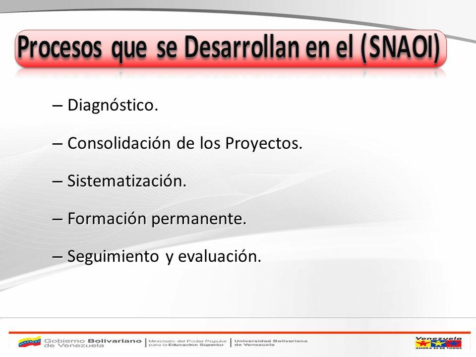 Procesos que se Desarrollan en el (SNAOI)