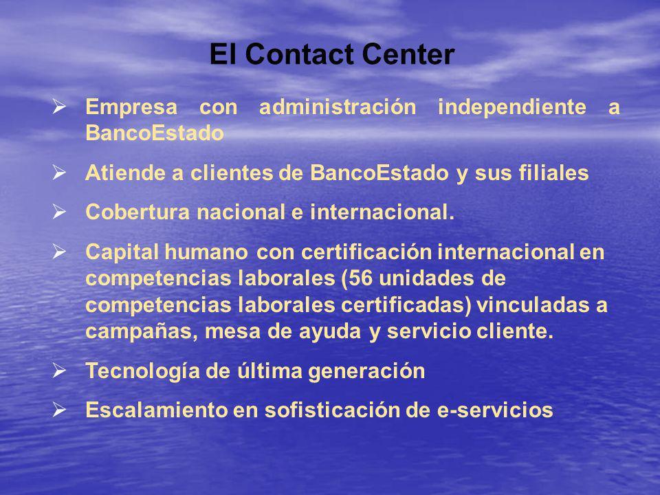 El Contact Center Empresa con administración independiente a BancoEstado. Atiende a clientes de BancoEstado y sus filiales.