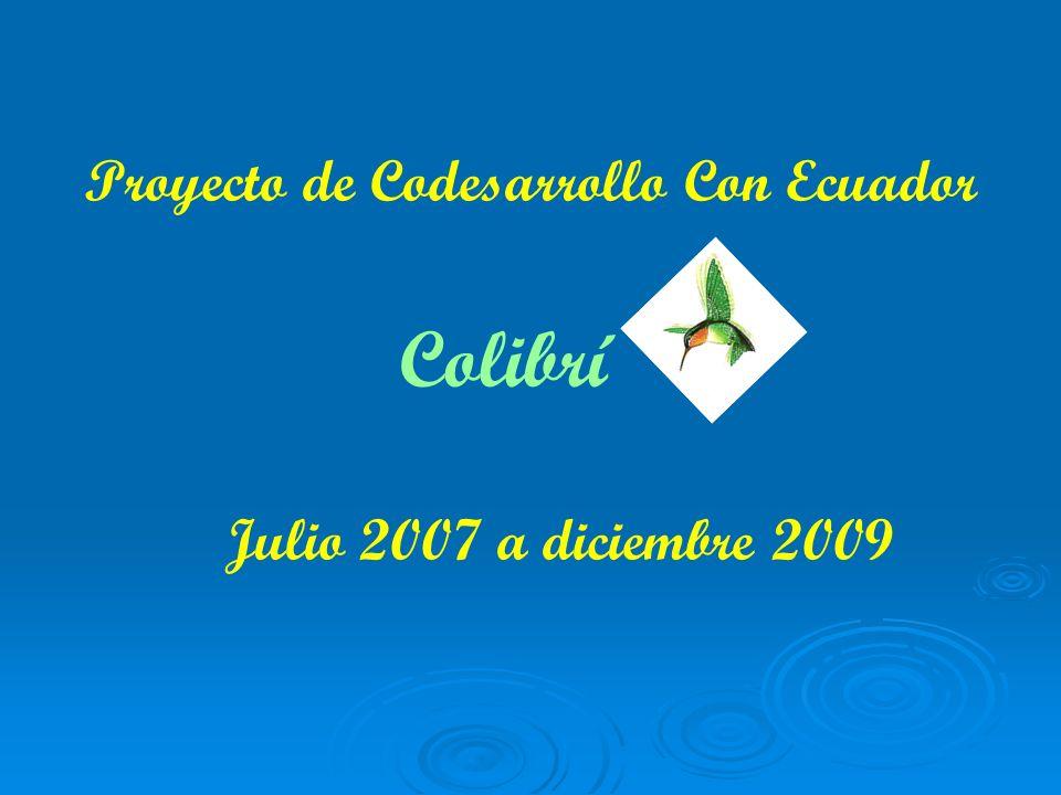 Proyecto de Codesarrollo Con Ecuador