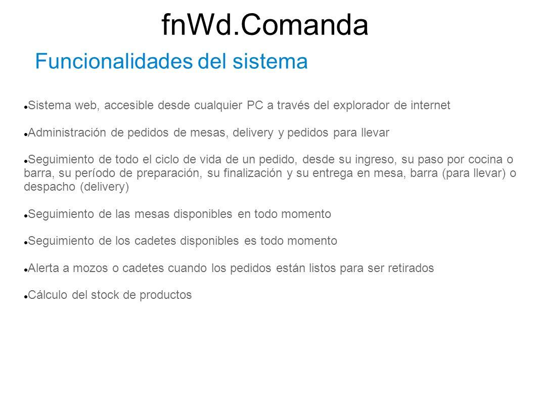 fnWd.Comanda Funcionalidades del sistema