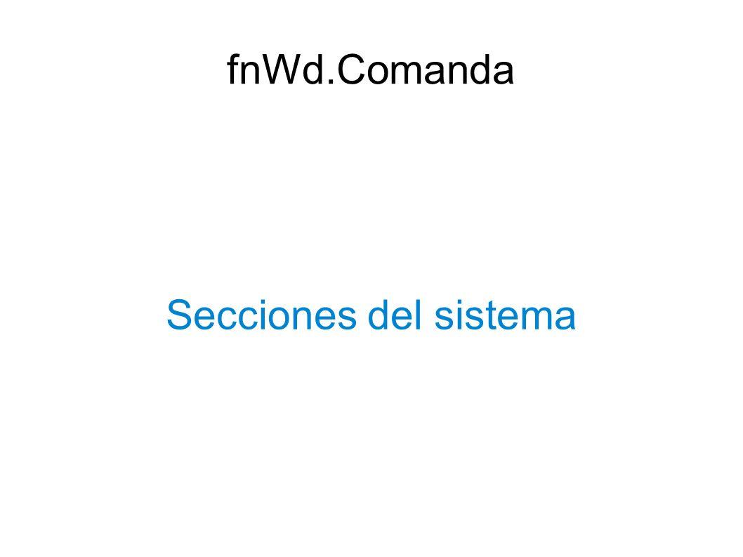 fnWd.Comanda Secciones del sistema