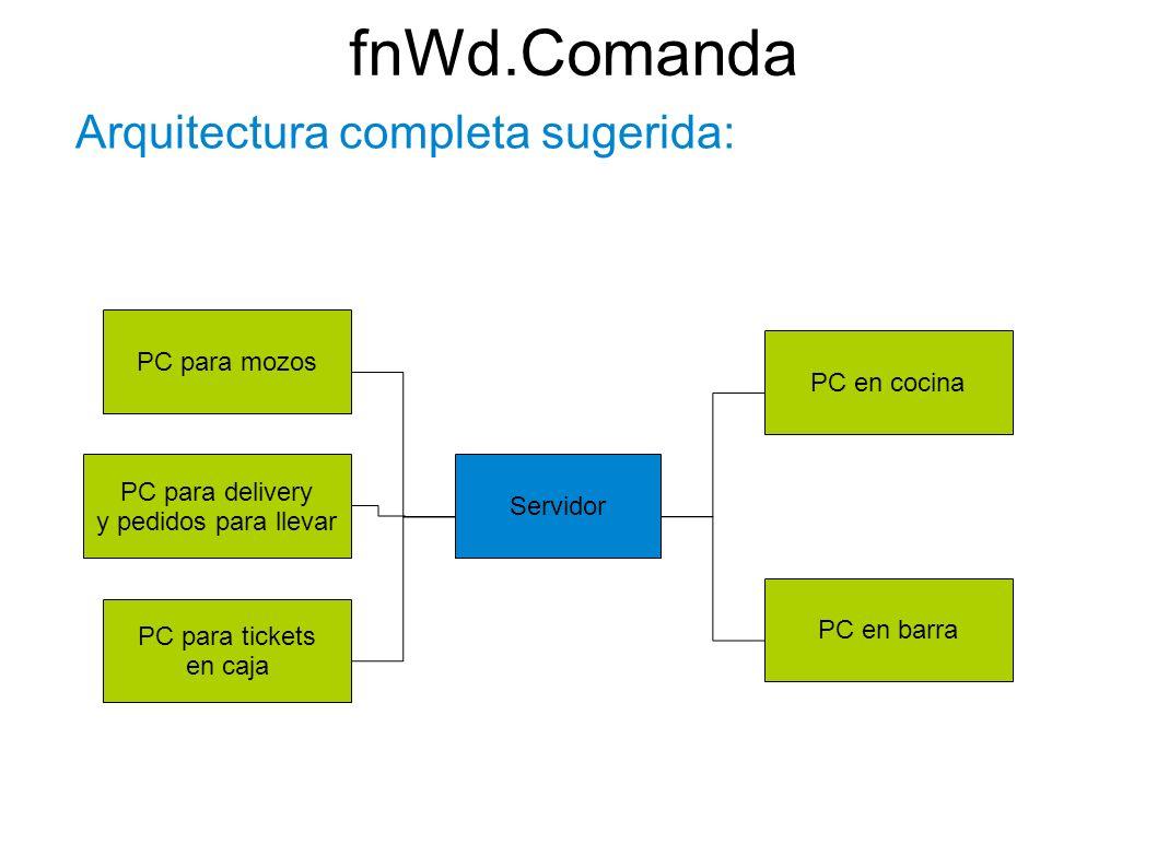 fnWd.Comanda Arquitectura completa sugerida: PC para mozos
