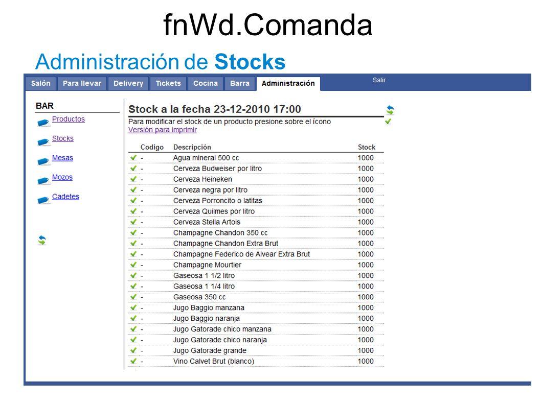 fnWd.Comanda Administración de Stocks