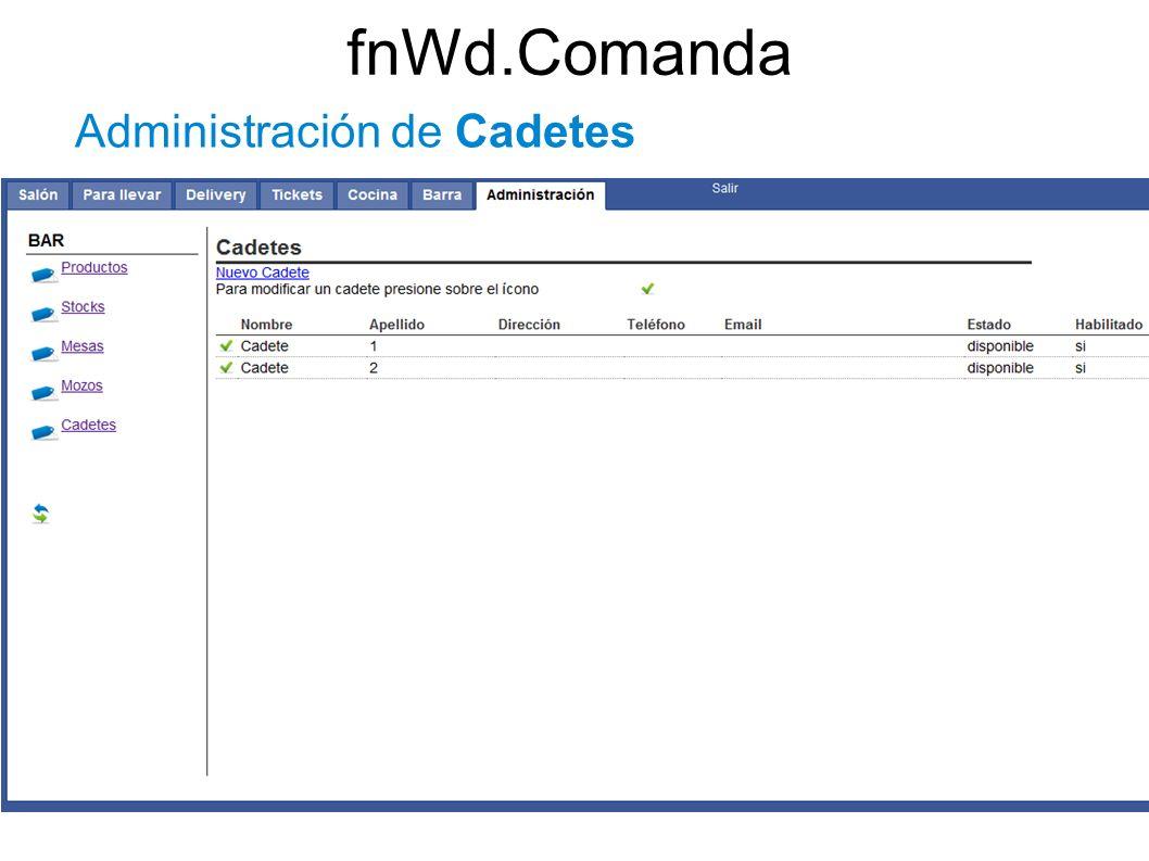 fnWd.Comanda Administración de Cadetes