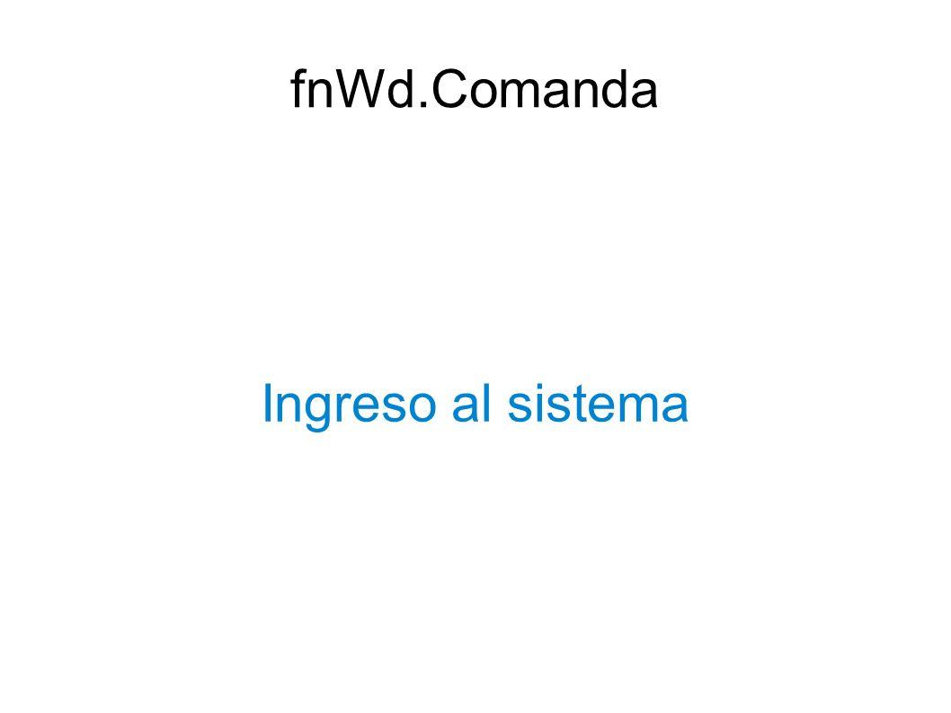 fnWd.Comanda Ingreso al sistema