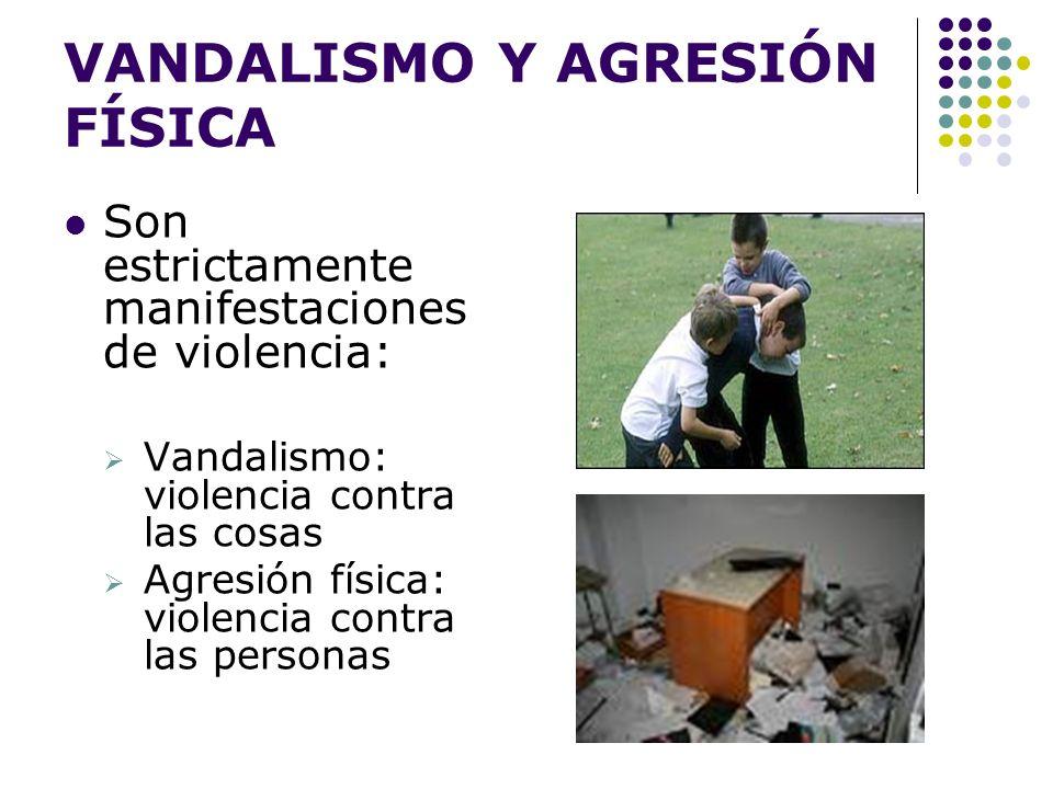 VANDALISMO Y AGRESIÓN FÍSICA