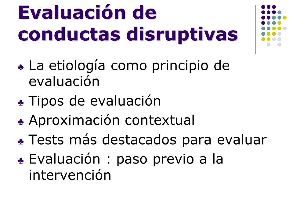 Evaluación de conductas disruptivas