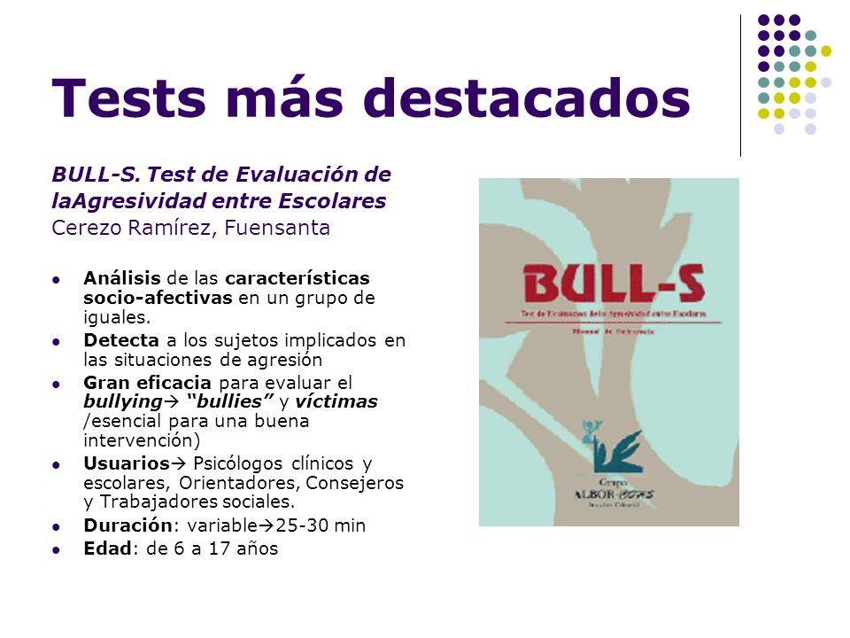 Tests más destacados BULL-S. Test de Evaluación de