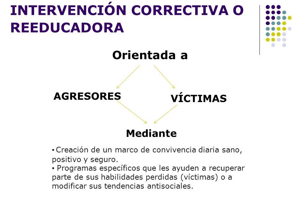 INTERVENCIÓN CORRECTIVA O REEDUCADORA