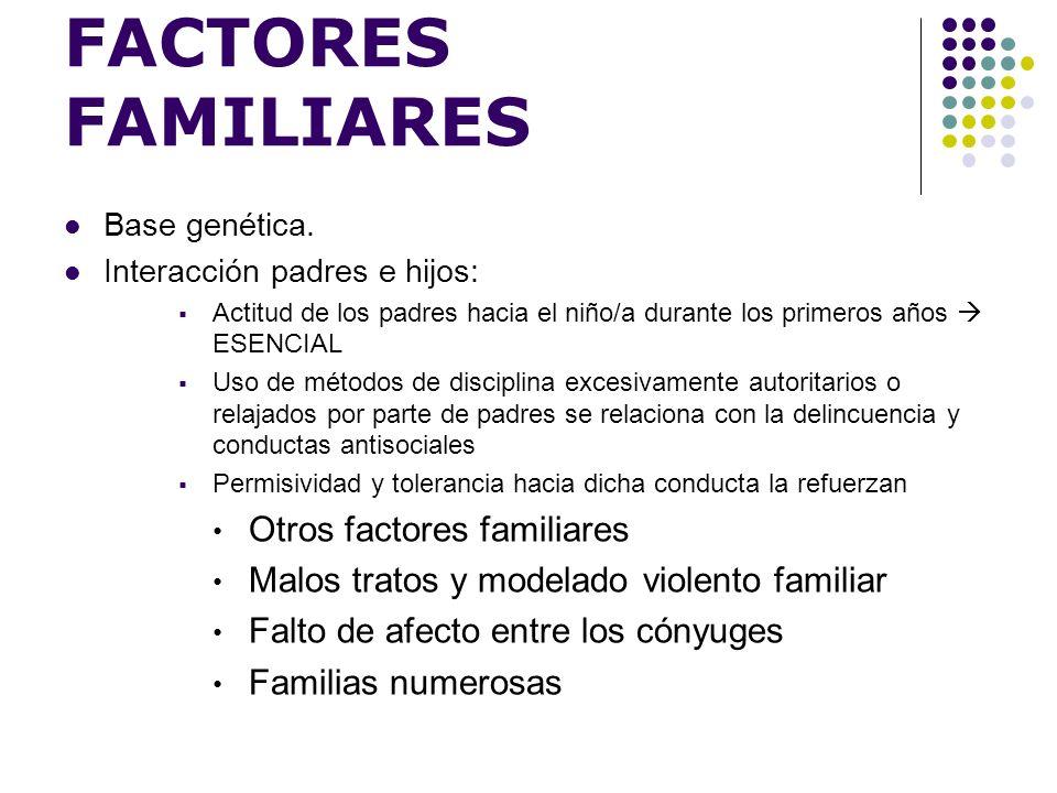 FACTORES FAMILIARES Otros factores familiares