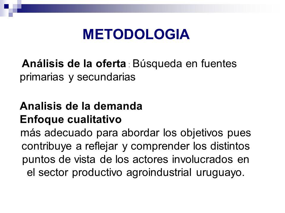 METODOLOGIA Analisis de la demanda Enfoque cualitativo