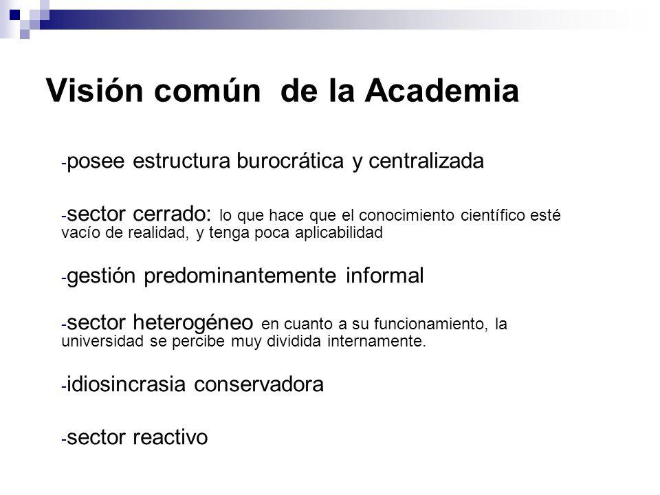 Visión común de la Academia