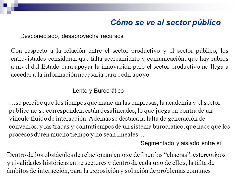 Cómo se ve al sector público