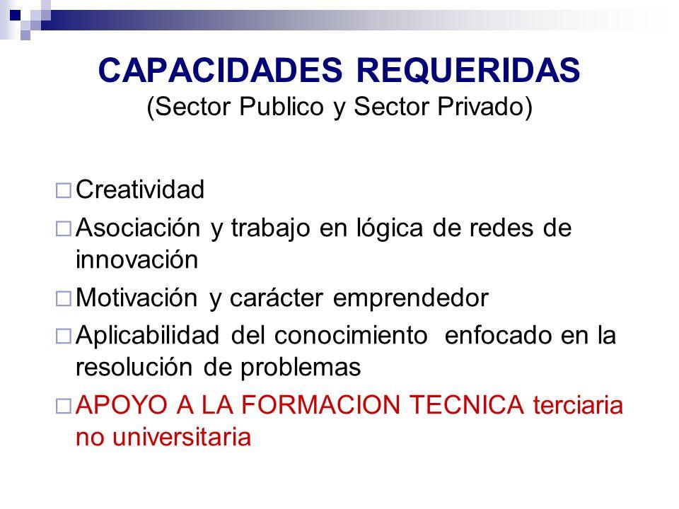 CAPACIDADES REQUERIDAS (Sector Publico y Sector Privado)