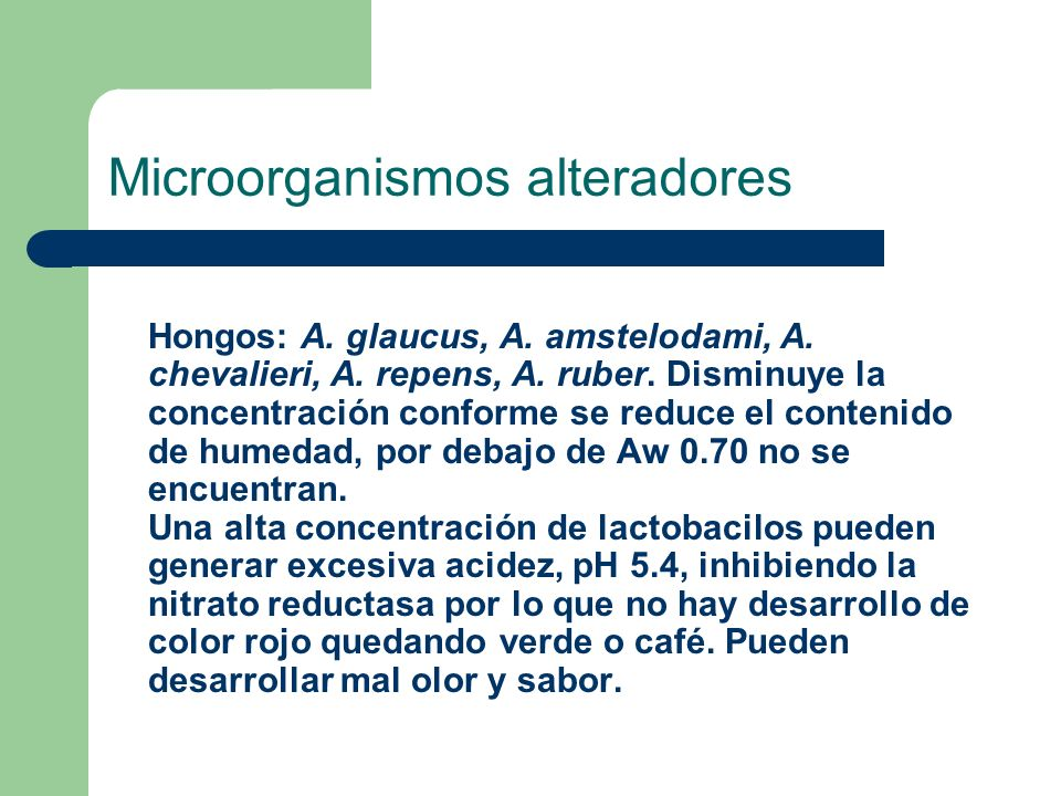 Microorganismos alteradores