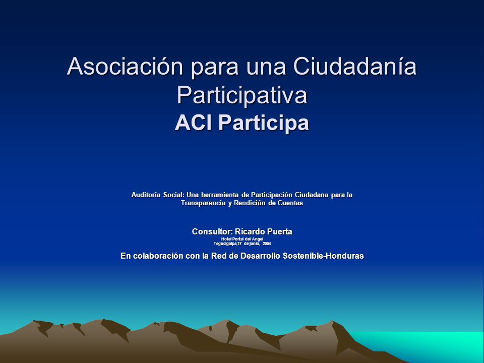 Asociación para una Ciudadanía Participativa ACI Participa
