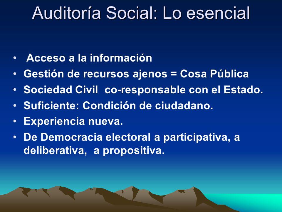 Auditoría Social: Lo esencial