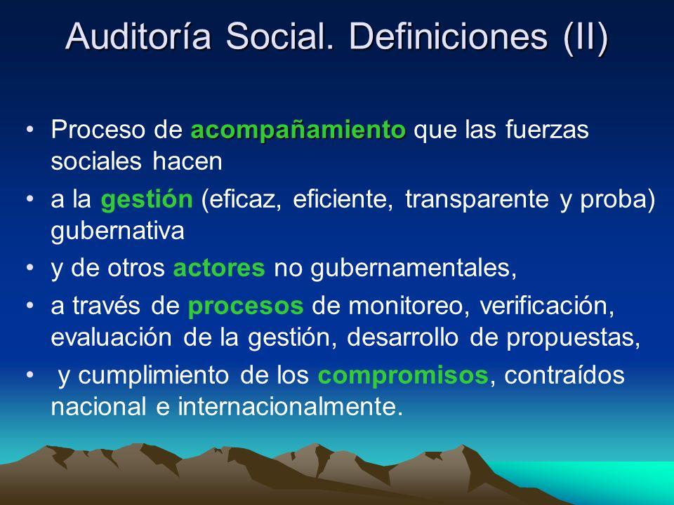 Auditoría Social. Definiciones (II)
